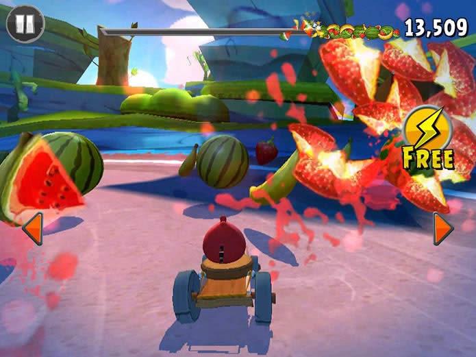 Angry Birds Go fundiendo el motor