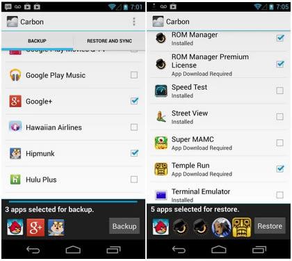 aplicación android para realizar copias de seguridad y sincronizar tus datos