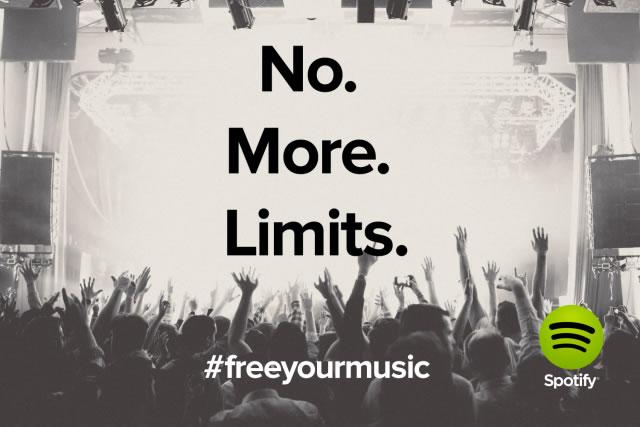 Las cuentas gratuitas de Spotify ya no tendrán limite de horas para escuchar música