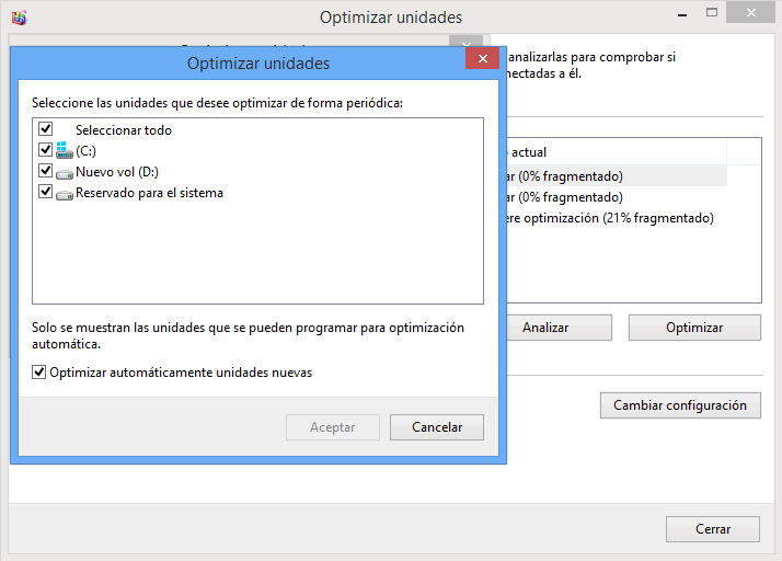 programar el desfragmentador de disco duro
