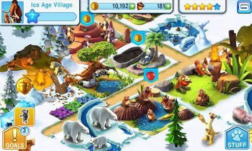 Ice Age Village, un juego para Android divertido con los personajes de la Era de Hielo
