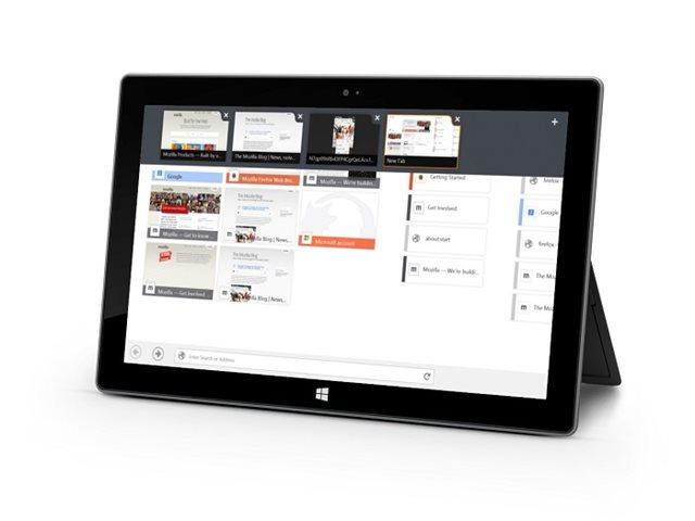 Mozilla lanza la versión Beta de Firefox Touch para Windows 8
