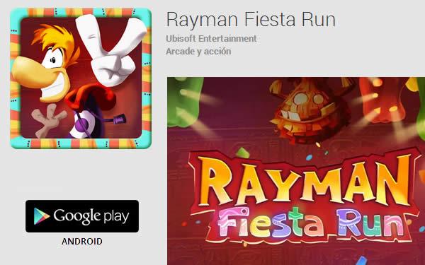 Rayman Fiesta Run, un juego de carreras para Android de plataformas