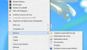 Como agregar y borrar elementos del menú Enviar a de Windows 8