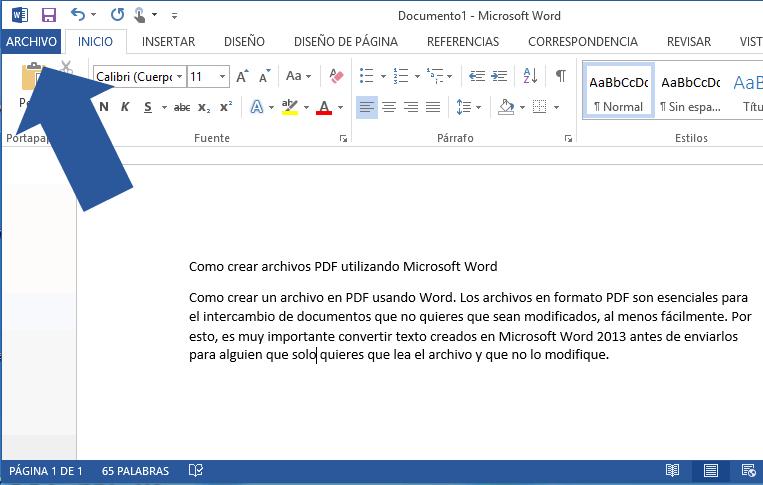 Crear archivos PDF