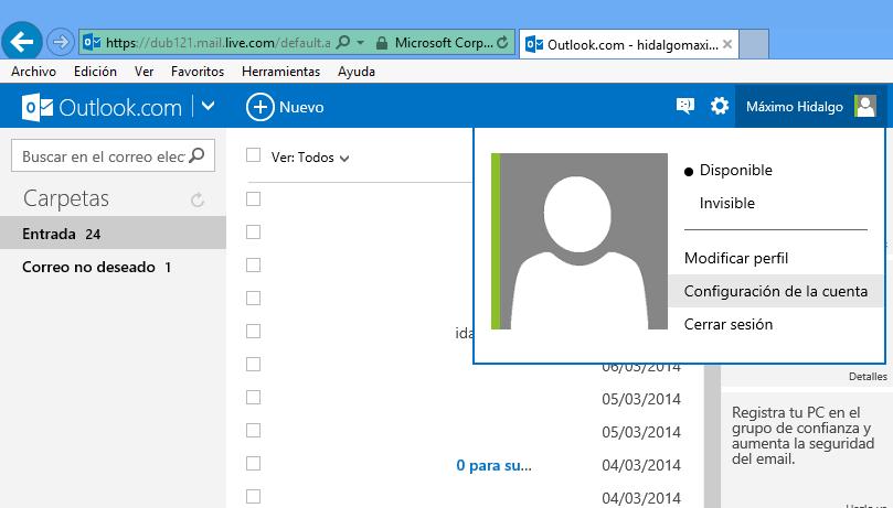 Cómo saber si alguien ha ingresado a tu correo de Outlook