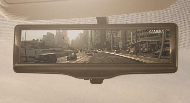 Retrovisor de Nissan con pantalla LCD ayuda a tener una visión mas clara de lo que hay detrás