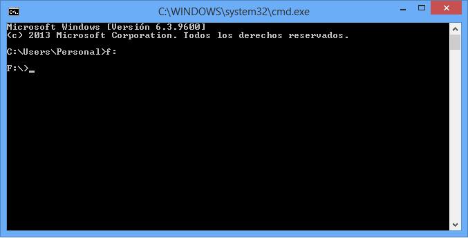 recuperar archivos ocultos con la consola de Windows