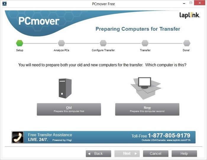 Transferir archivos de un PC viejo a otro