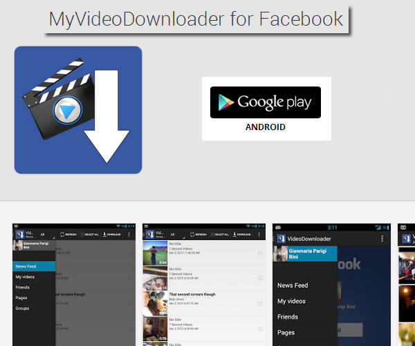 Descargar videos de Facebook a tu Smartphone con MyVideoDownloader for Facebook