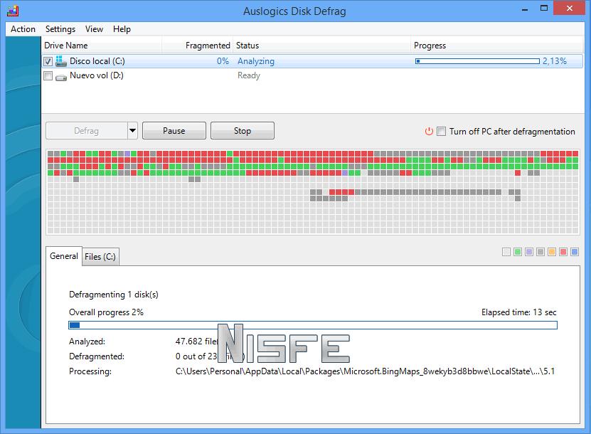 Desfragmentar disco duro con Auslogics Disk Defrag Portable
