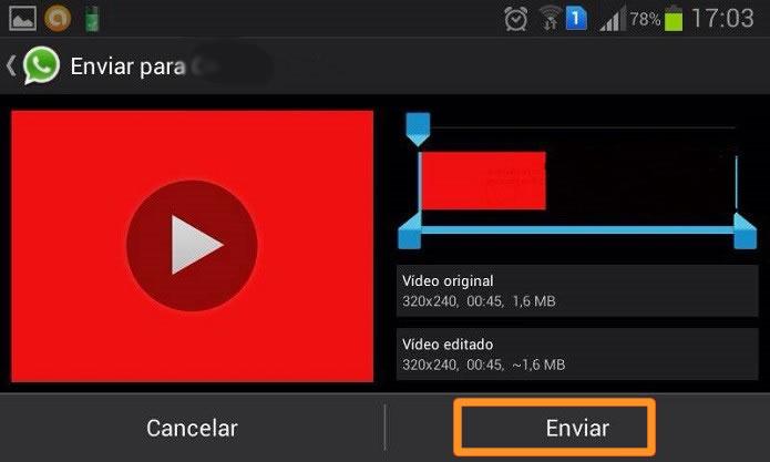 Enviar el video de Facebook por WhatsApp