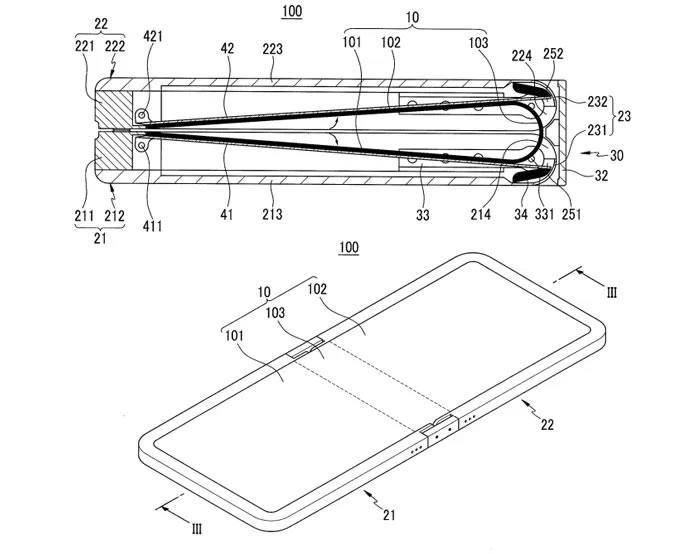 Samsung registra patente de un dispositivo con pantalla flexible