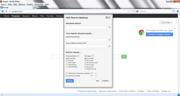 Encuentra lo que buscas en Google, Bing y YouTube con Web Search Optimizer