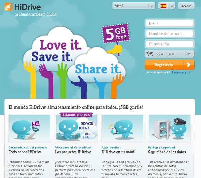 HiDrive, otro servicio de almacenamiento en la nube para tus archivos