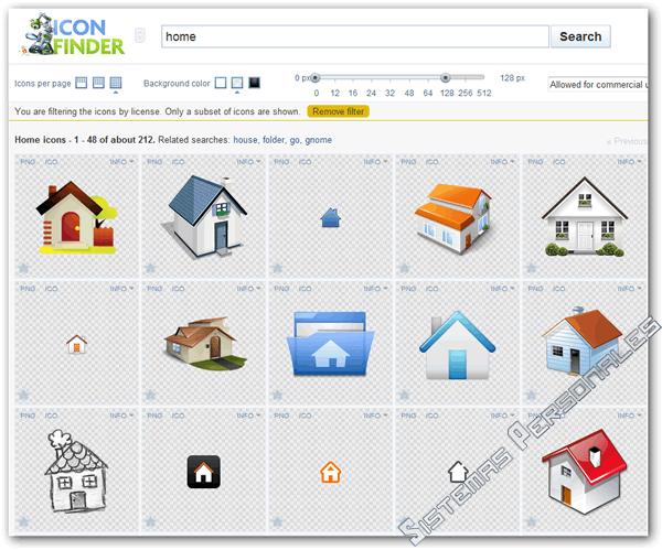 Buscar iconos y descargarlos de forma gratis con el buscador IconFinder