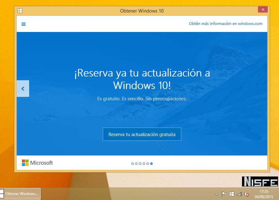 Cómo reservar tu copia gratuita de Windows 10